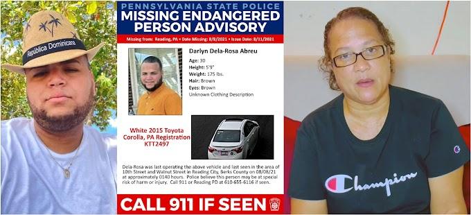 Taxista dominicano desaparece en Pensilvania desde el 8 de agosto; madre pide ayuda para encontrarlo