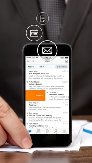 Outlook for iOS l'app si aggiorna alla vers 1.1.2