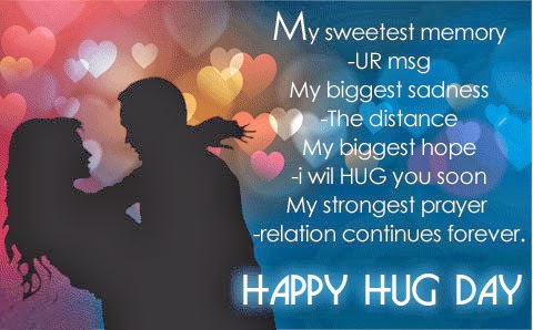 Happy Hug Day Quotes Wishes SMS Images for Boyfriend and Girlfriend