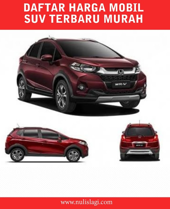 Daftar Harga Mobil SUV Terbaru Murah