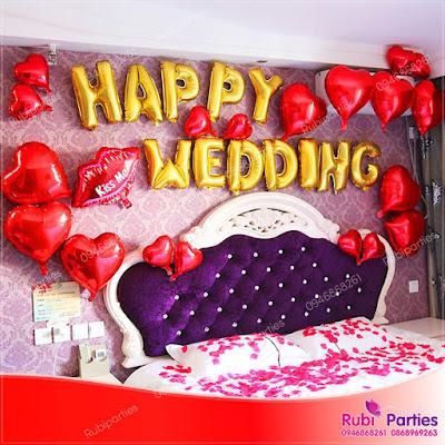 Set bóng trang trí phòng cưới HPWD04