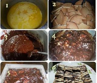 Resepi kek Batik Coklat