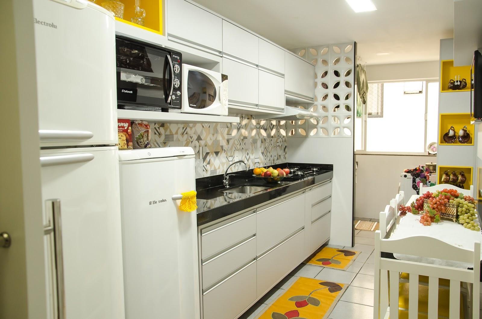 Cozinha Cinza Amarelo Pimenta Planejados ~ Cozinha Cinza Com Vermelho
