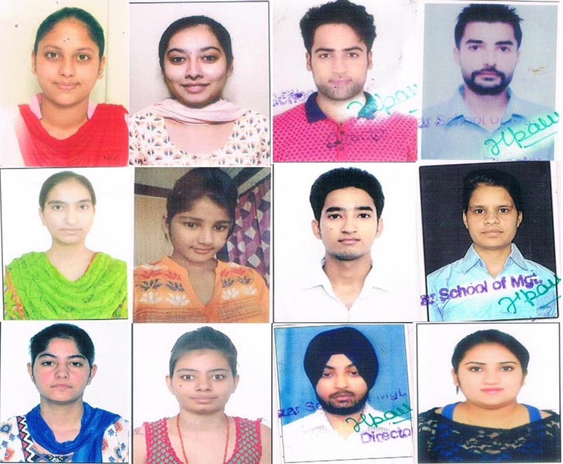 Successful students of Gulzar Group of Institutes