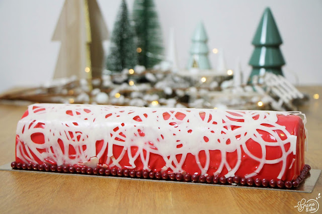 Bûche Vanille Framboise Cassis Recette pour les fêtes Dessert Noël Nouvel An