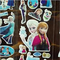 10 fogli stickers principessa FROZEN adesivi Anna Elsa idea regalo gadget fine festa compleanno bambina