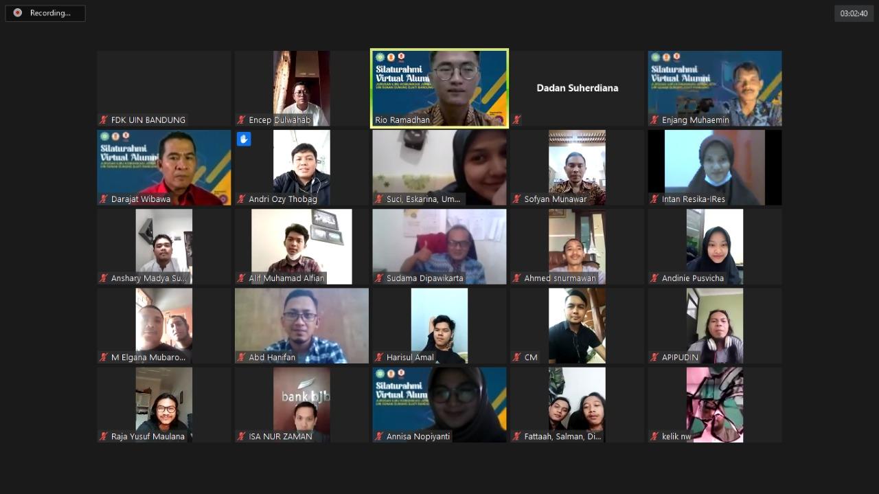 Eksistensi Alumni Sama Pentingnya dengan Elemen Pengelola Fakultas | Silaturahmi Virtual FDK-UIN Bandung