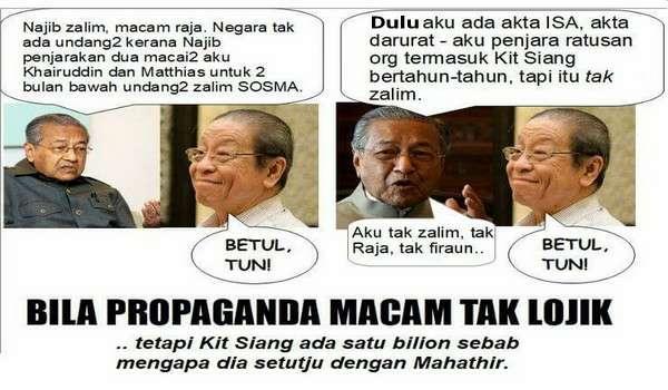 Mahathir Tuduh SOSMA Zalim Kerana Memenjarakan Dua Macai Beliau - ISA Tak Zalim?