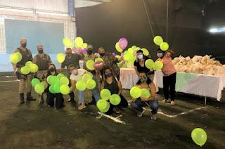 Base Comunitária doa mais de 400 brinquedos para crianças