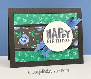 Stampin' Up! You Are Amazing Flower & Field Card + Easy Card Layout with Designer Paper ~ January-June 2021 Mini Catalog ~ www.juliedavison.com #stampinup