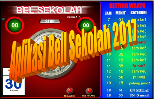 Aplikasi Bell Sekolah 2017