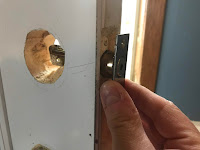 Deadbolt test fit