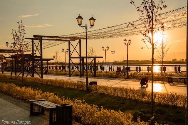 Набережная Казань закат