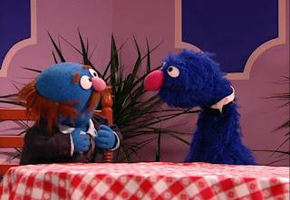 Waiter Grover Rhyming Day, Mr. Johnson, Sandwich, apple pie, cheeseburger, Sesame Street Episode 4310 Afraid of the Bark season 43
