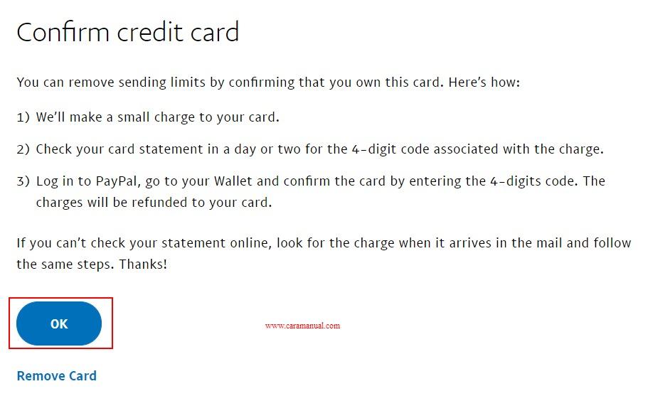 Perjanjian Verifikasi Akun Paypal