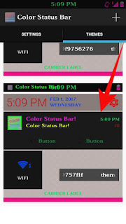 Mobile notification bar color full kese banaye 3