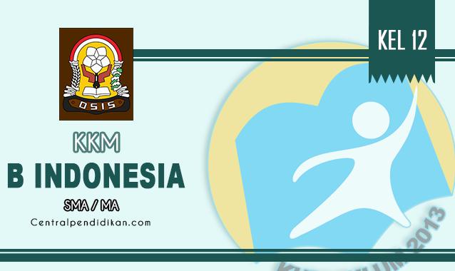 KKM Bahasa Indonesia Kelas XII SMA Revisi Tahun 2021/2022