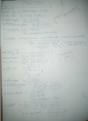 résumé (2) de la physique statistique I smp s5