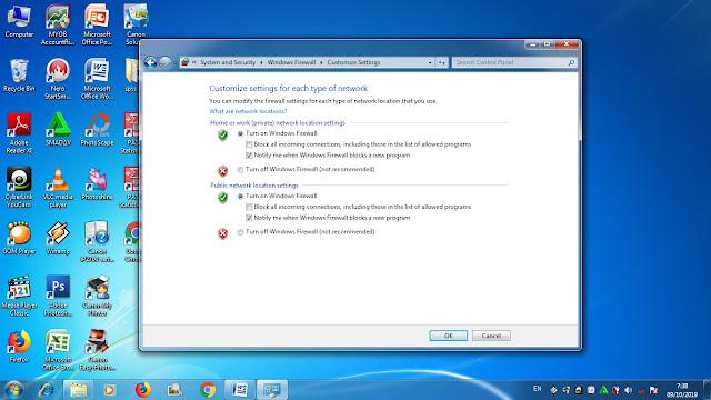Cara Menonaktifkan Firewall Pada Windows 7 Dengan Mudah, cara mematikan firewall pada windows, cara cara mematikan firewall, tutorial mematikan firewall pada komputer