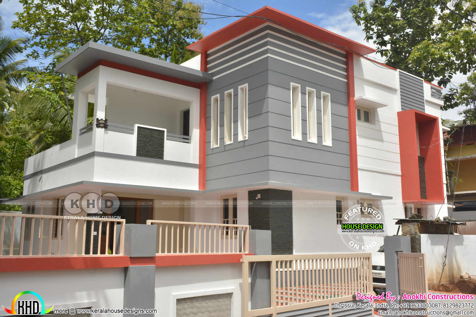 Finishing cost 32 lakhs contemporary Kerala home design Kerala