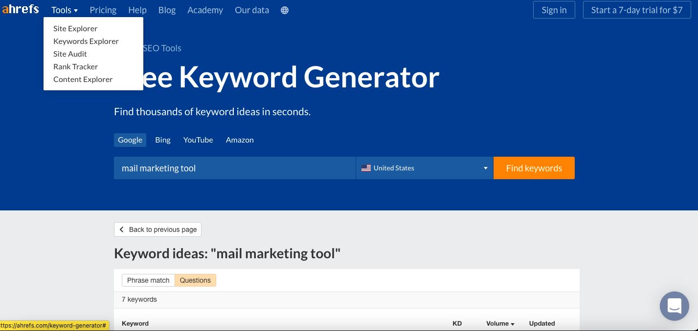 href keyword tool