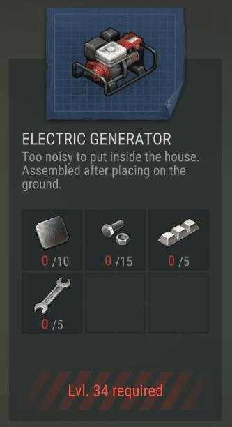 Electric Generator Item Awal