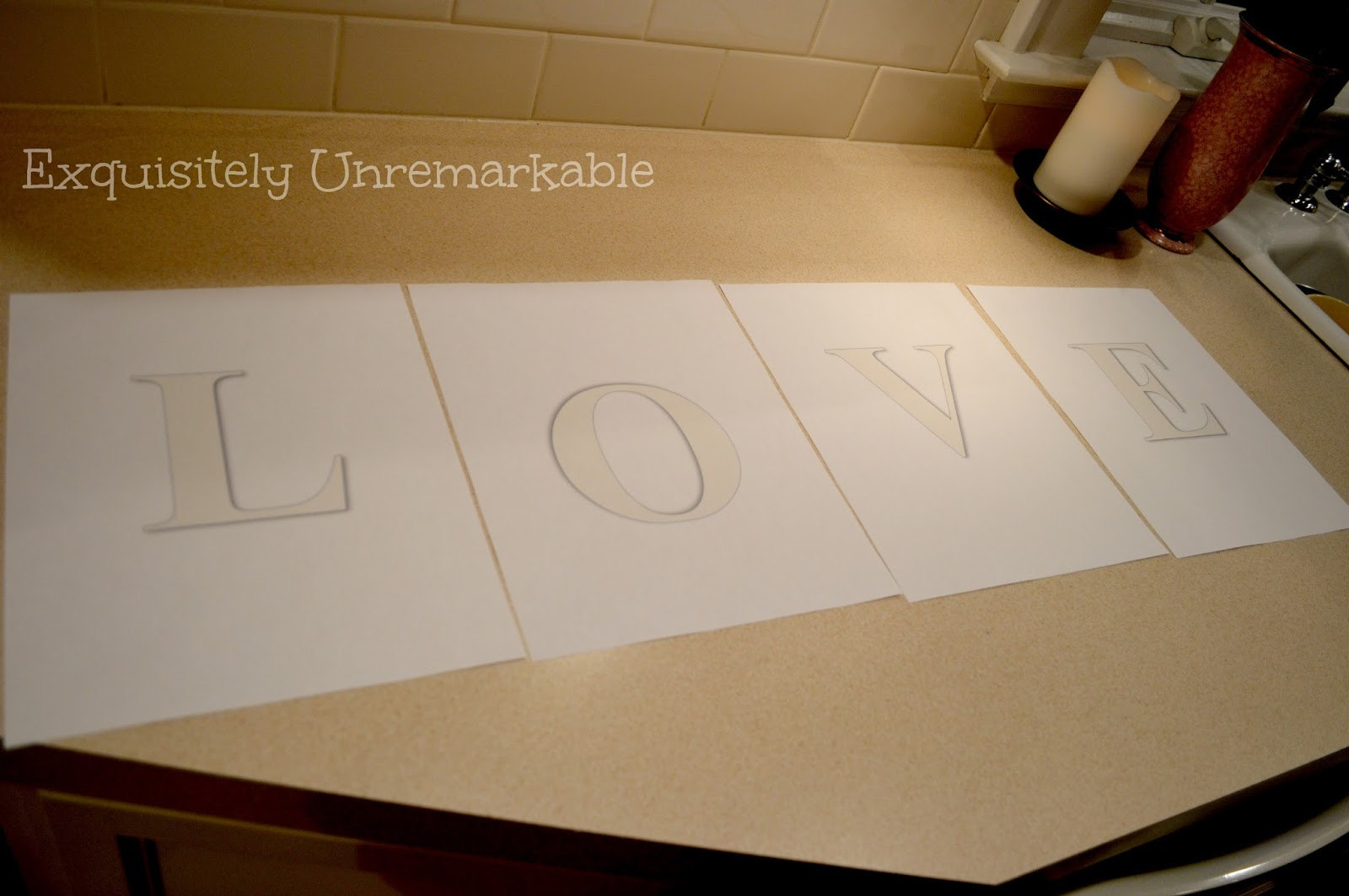 DIY Love Banner Template