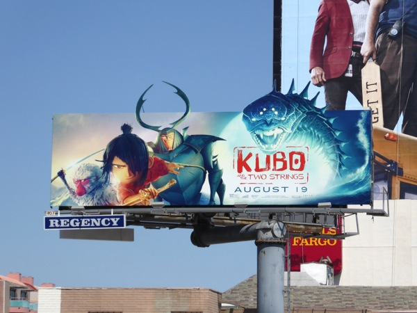 Kubo and the Two Strings cut-out extension billboard