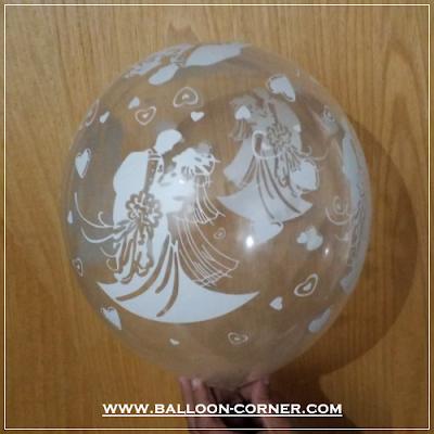 Balon Latex Transparan Print Wedding