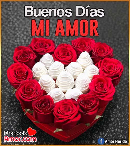 buenos días amor corazón