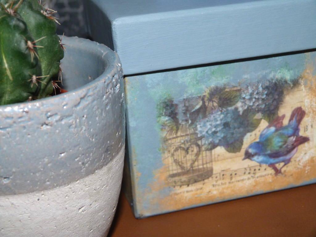 Decorar Una Caja De Papel Mache Con Decoupage Isabel Vintage