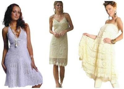 Vestidos blancos ganchillo para primavera