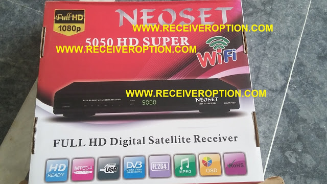 NEOSET 5050 HD SUPER RECEIVER AUTO ROLL POWERVU KEY NEW SOFTWARE