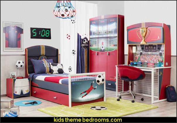 Soccer Twin Upholstered Customizable Bedroom Set