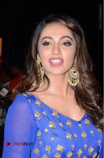 Telugu Actress Tejaswi Madivada Pos in Blue Long Dress at Nanna Nenu Na Boyfriends Audio Launch  0004.JPG