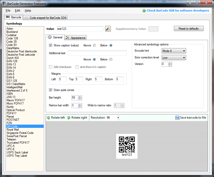 free barcode generator software for windows 7