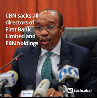 CBN sacks ALL directors of First Bank Holdings, reinstates Sola Adeduntan