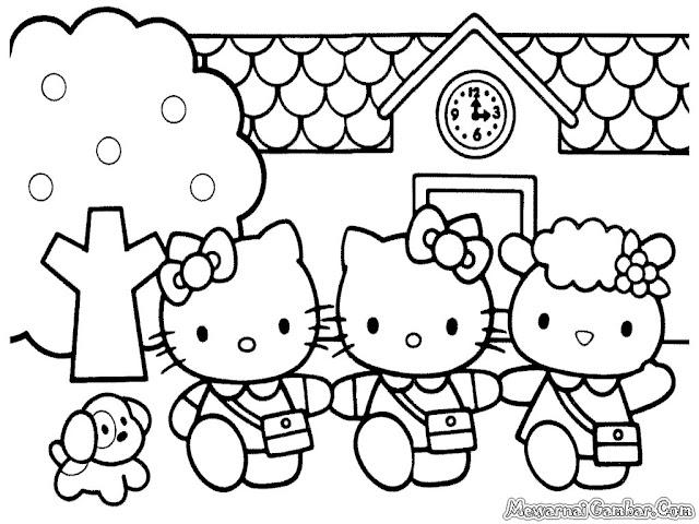 Hello Kitty Berbelanja Kepasar Bersama Teman-Teman