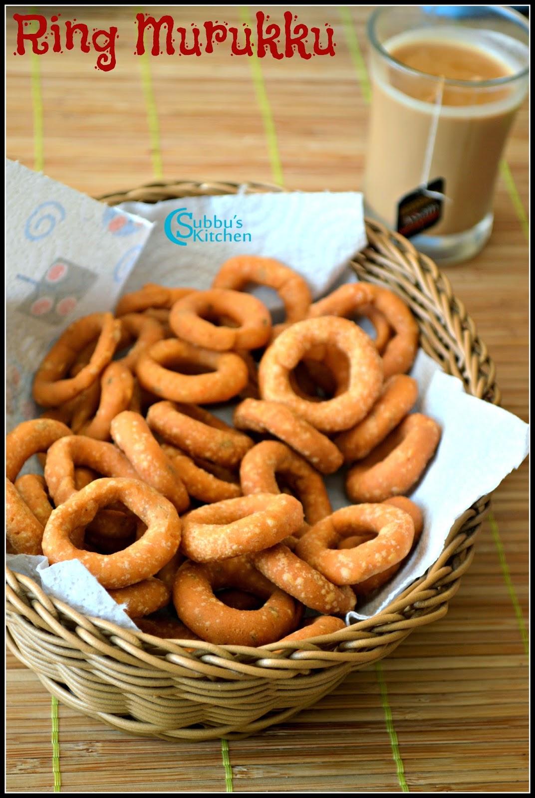 Ring Murukku Recipe | Rice Flour Rings Recipe | Spicy Ring Murukku Recipe