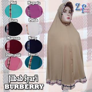 Jilbab-syar'i-burberry-bahan-zoya-terbaru