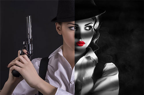 Film Noir Photoshop CC Tutorial 2016