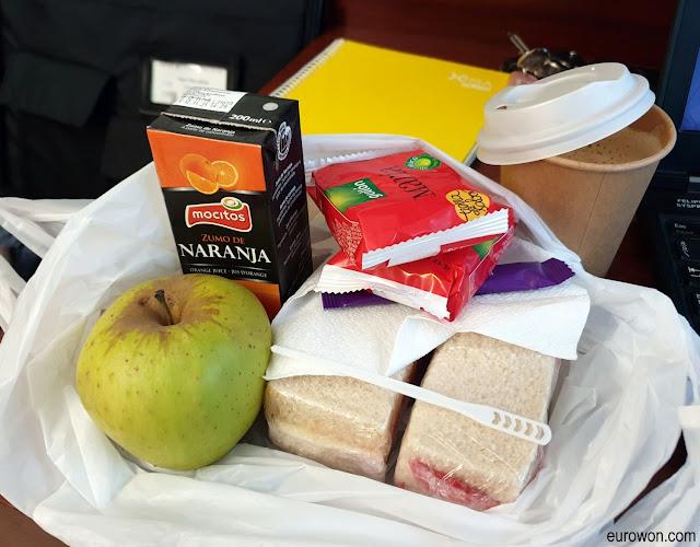 Desayuno en bolsa por coronavirus