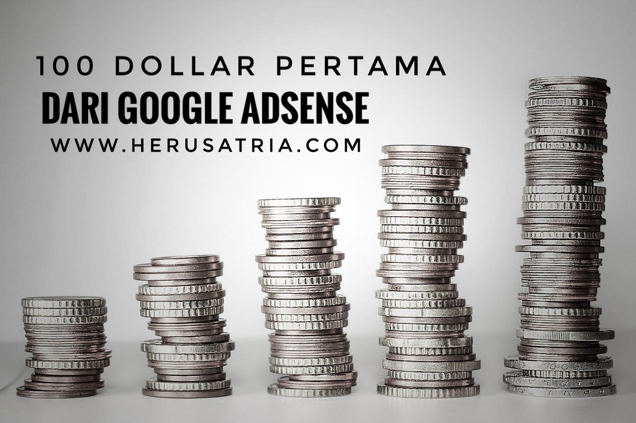100 dollar pertama dari google adsense