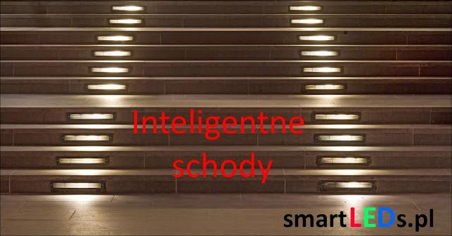 Inteligentne schody LED. Podświetlenie poszczególnych schodków ledami
