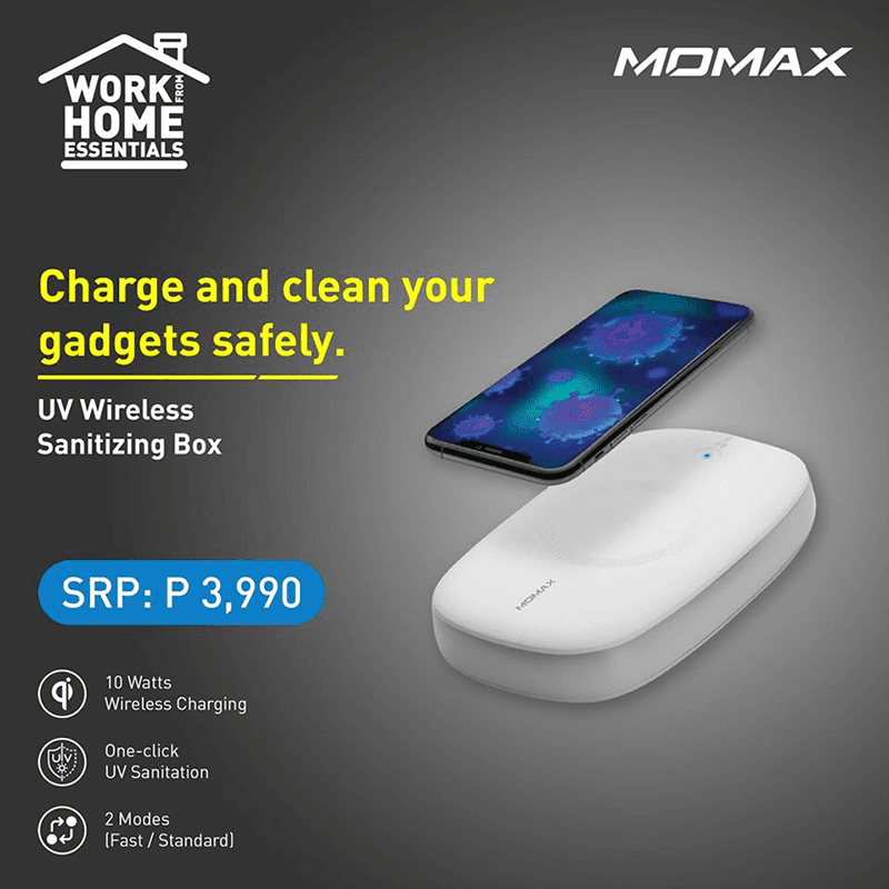 Digital Walker brings Momax UV Wireless Sanitizing Box to the Philippines