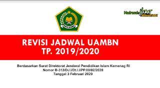 PENTING Jadwal Revisi UAMBN MA dan MA Tahun 2019/2020