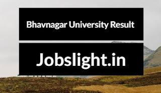 Bhavnagar University Result 2017