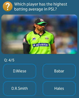 Which player has the highest batting average in PSL?