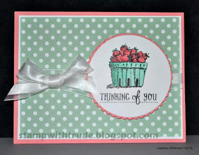 Basket of Wishes, Stampin' Up!, Stamp with Trude, strawberries, Tuesday Tutorial