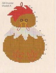 Maniques poule au crochet